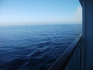 cruise ship sea view horizon
