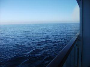 cruise ship sea view horizon