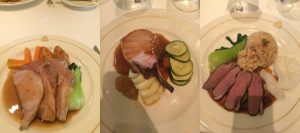 Cunard Queen Victoria main restaurant food main course