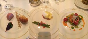 Cunard food Queen Victoria main restaurant starters