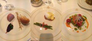 Cunard food Queen Victoria main restaurant starters