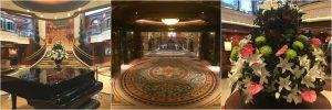 Cunard Queen Victoria Atrium Piano Flowers