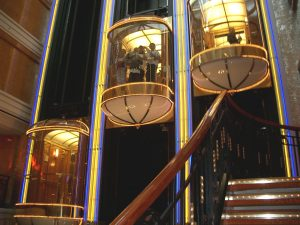 NCL Norwegian Spirt Atrium Lifts