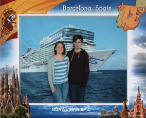 Cruise ship embarkation photo NCL Norwegian Epic Barcelona Spain