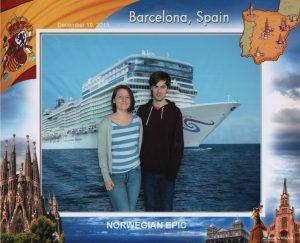 Cruise ship embarkation photo NCL Norwegian Epic Barcelona Spain