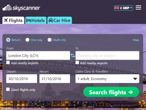 Cruise on a budget - Image of Sky Scanner