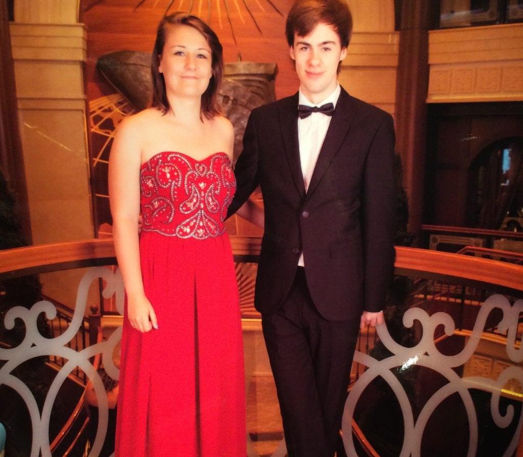 cunard formal night dress code tuxedo suit ball gown red dress boohoo girl short hair