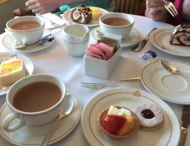 Cunard Queen Victoria Afternoon Tea cakes scones sandwiches queens room