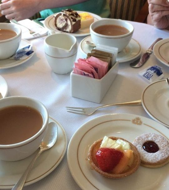 Cunard Queen Victoria Afternoon Tea cakes scones sandwiches queens room