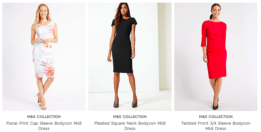 Cunard Dress Code - M&S Bodycon Dresses