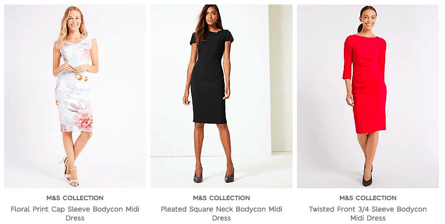 Cunard Dress Code - M&S Bodycon Dresses