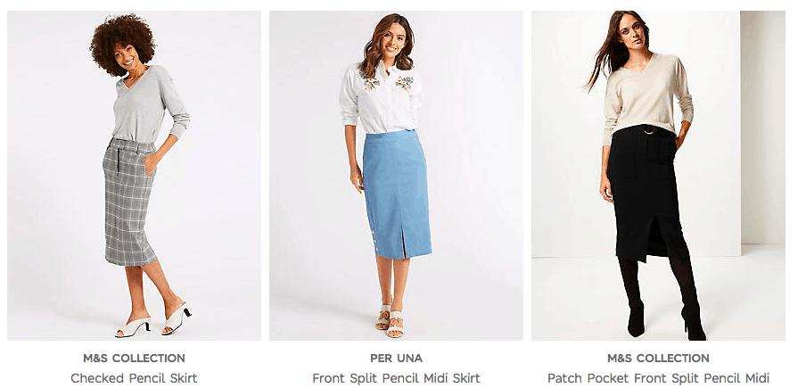 Cunard Dress Code Skirts M&S