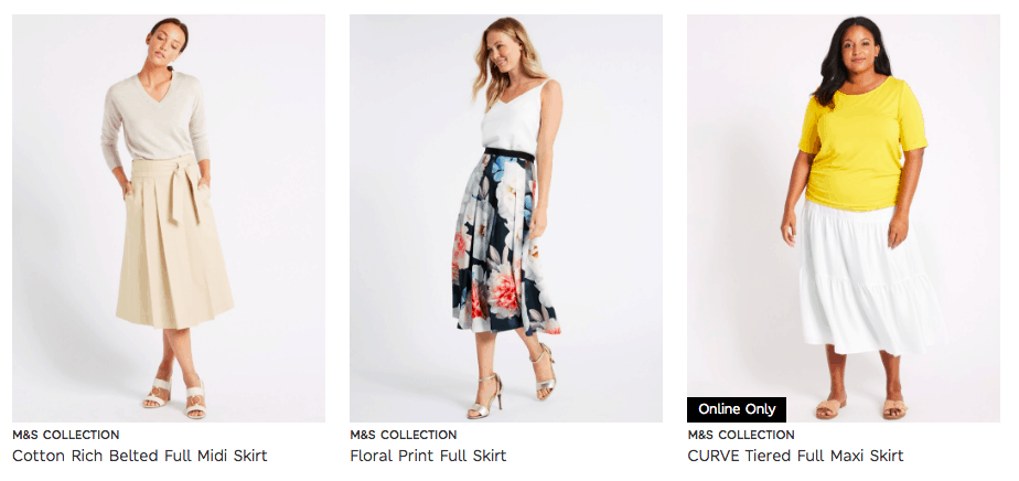 Cunard Dress Code M&S Full Skirts