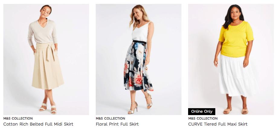 Cunard Dress Code M&S Full Skirts