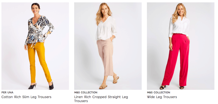 Cunard Dress Code M&S Trousers