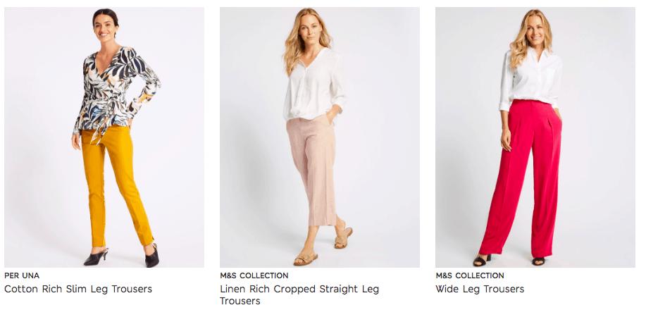 Cunard Dress Code M&S Trousers