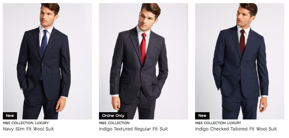 Cunard Dress Code M&S Mens Suits Dark