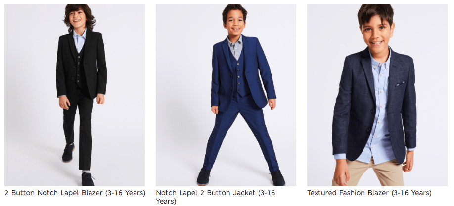 Cunard Dress Code Boys Suits M&S