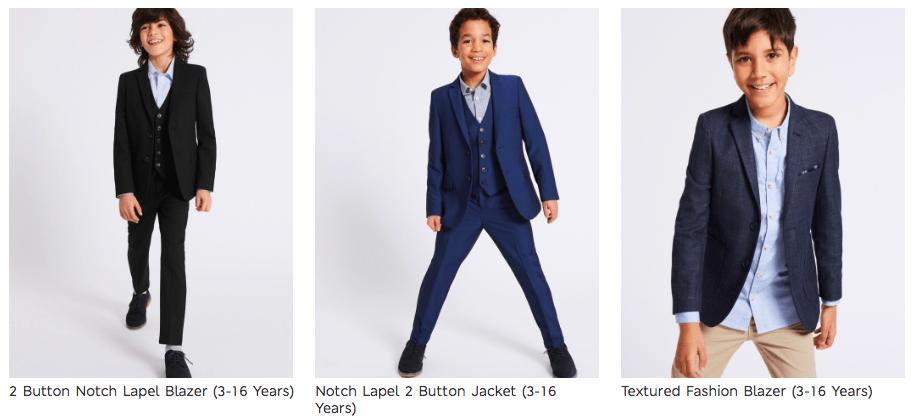 Cunard Dress Code Boys Suits M&S