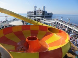 cruising isn't just for old people ncl norwegain epic waterslide young cruiser view deck