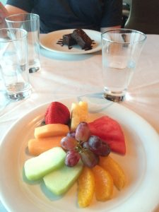 NCL Norwegian Getaway Food Restaurant Fruit Chocolate