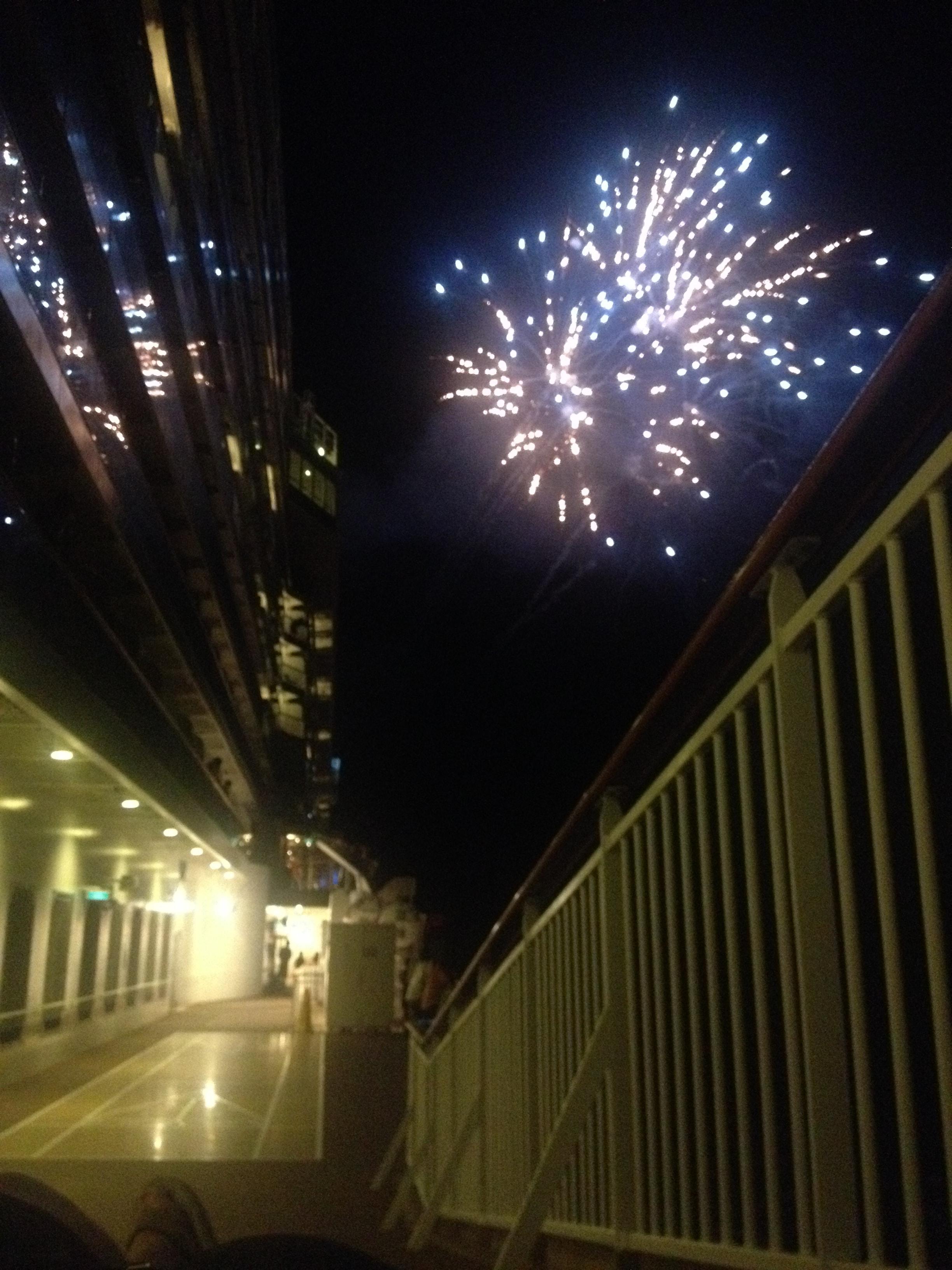 Norwegian Breakaway Fireworks at new year