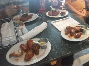 NCL Norwegian getaway breakaway epic o'sheehans buffalo wings table four wings