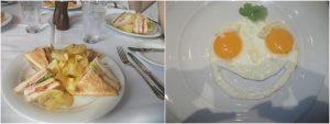 NCL Norwegian Getaway crisps sandwich eggs breakfast