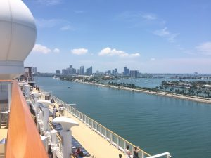 Sail away port of miami view cruise ship ncl norwegian getaway