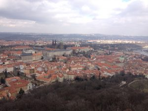 Prague Czech Republic Petrin Tower View