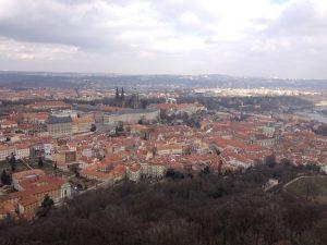 Prague Czech Republic Petrin Tower View
