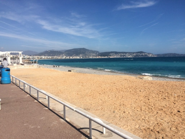 Nice france promonade walk from the airport