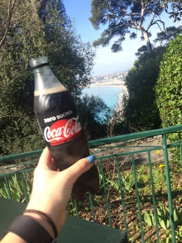 Nice France Coca Cola Castle on the hill cafe