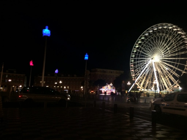 nice france ferris wheel old town square