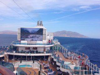 Princess ship sea deck sail away