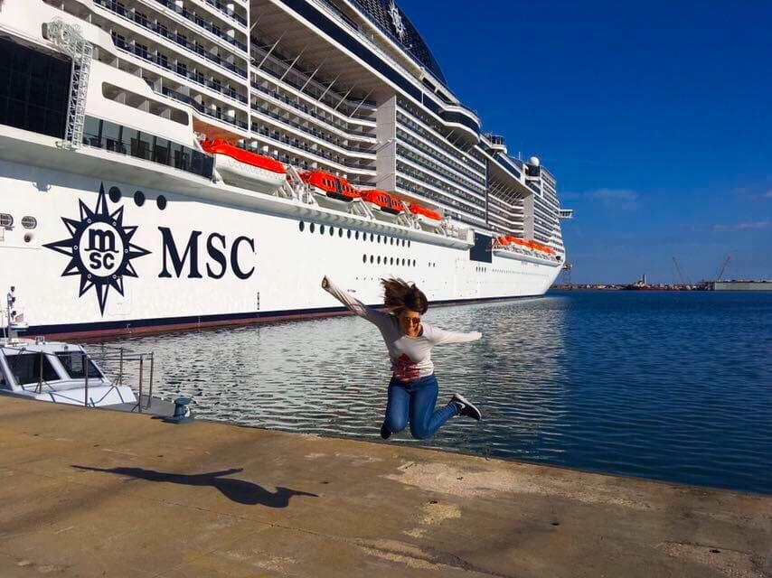 msc meraviglia emma cruises jump
