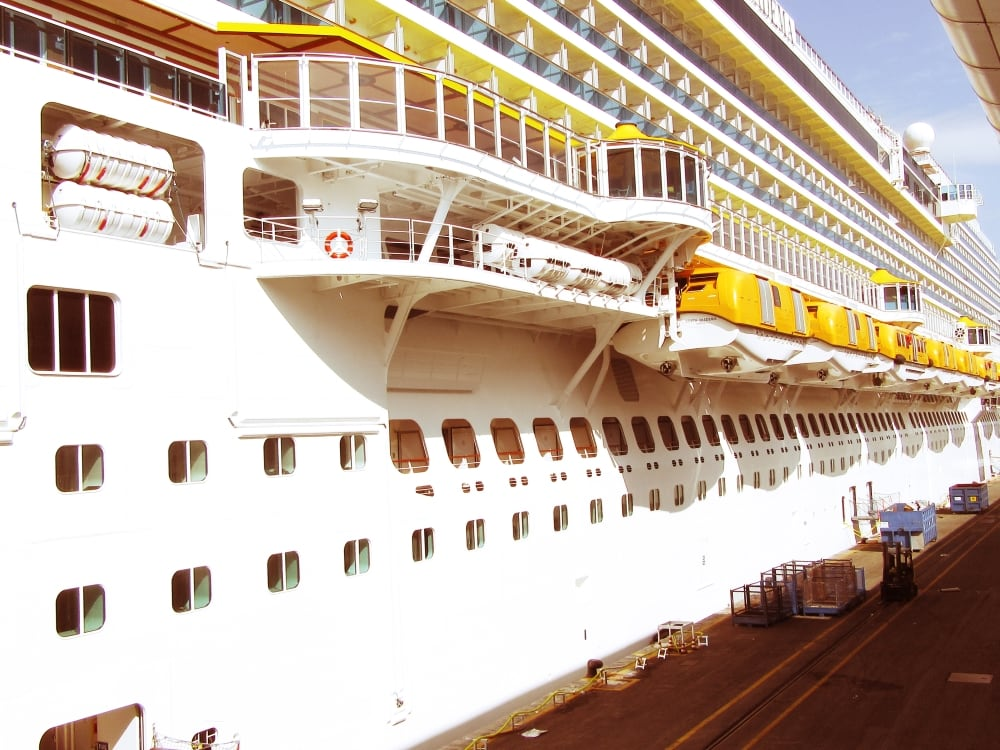 Costa Diadema cruise ship side lifeboats