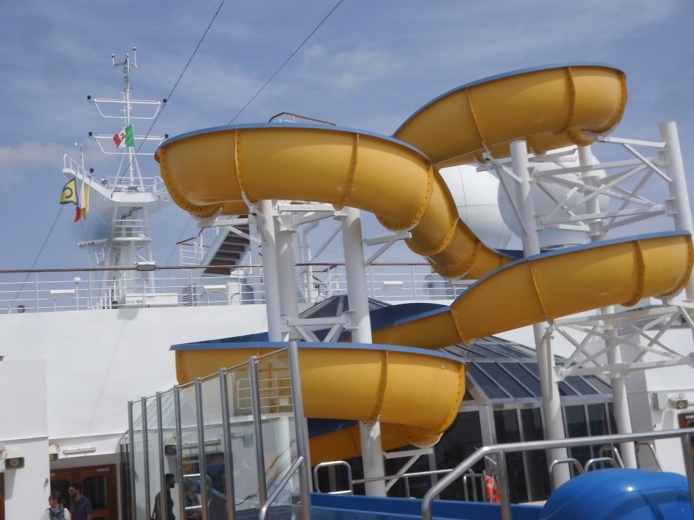 Costa cruises Fascinosa waterslide cruise ship deck