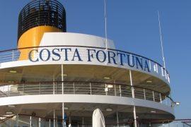 Costa Fortuna sign funnels