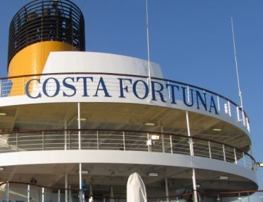 Costa Fortuna sign funnels