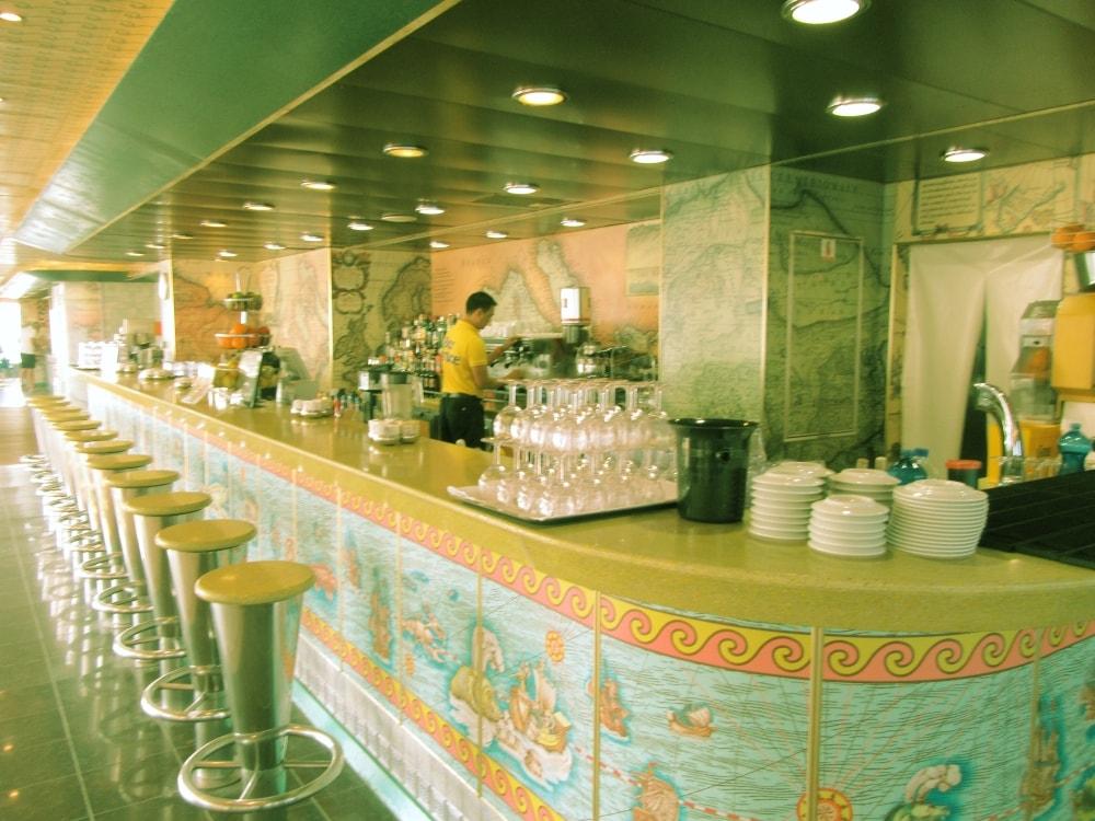 Costa cruises Fortuna deck bar