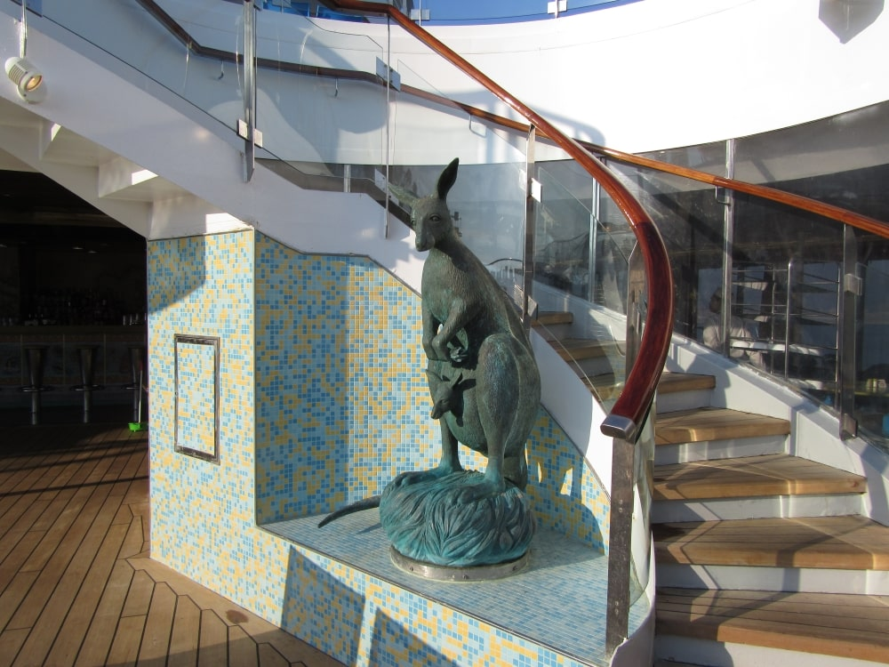 Costa cruises Fortuna deck stairs