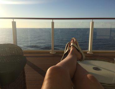 Cruise shorts deck sunset
