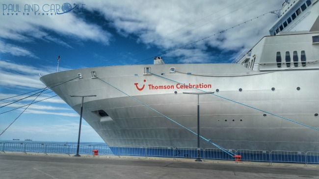 Thomson Celebration Cruise Ship Front
