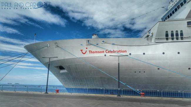 Thomson Celebration Cruise Ship Front
