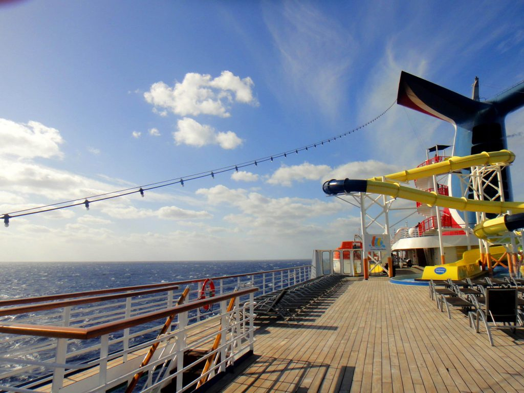 Carnival Cruise Line Funnel Slides