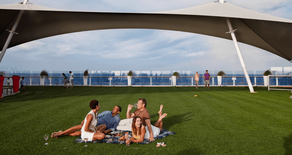 celebrity grass lawn ships cruise line first cruise