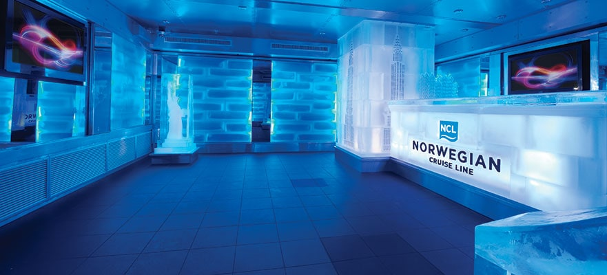 ncl norwegian cruise line breakaway getaway ice bar