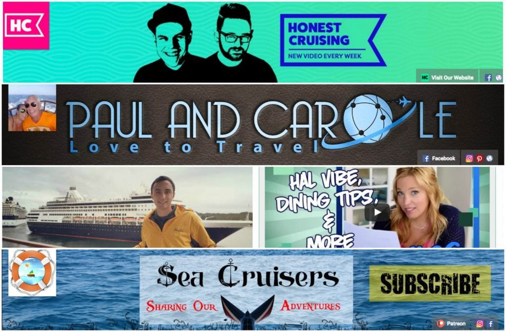 cruise youtube cruise youtubers honest cruising paul and carole love to travel scott singer cruises cruise tips tv sea cruisers
