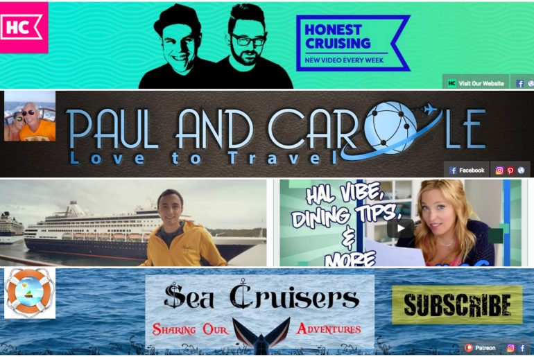 cruise youtube cruise youtubers honest cruising paul and carole love to travel scott singer cruises cruise tips tv sea cruisers